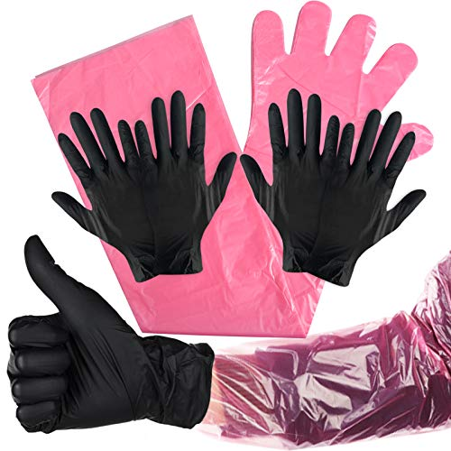 Kalolary 20P Disposable Gloves Hunting Long Short Gloves Field Dressing Mitten
