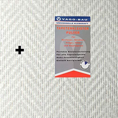 2x 25m2 glasvezelbehang glasvezelweefsel visgraat 130 g/m2 + lijm