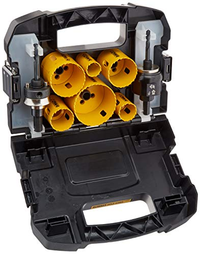 DEWALT Hole Saw Kit, Standard Electrician's Set, Bi-Metal (D180002)