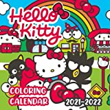 Hello Kitty: Coloring Calendar 2021 - 2022 8.5x8.5 Size with High Quality Images