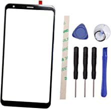 Draxlgon Outer Screen Front Glass Lens Replacement for L G Q Stylo 4 Stylo4 Q710 Q710MS Q710CS Q710AL Q710TS Q710US Q710ULM (Not LCD Not digitizer)