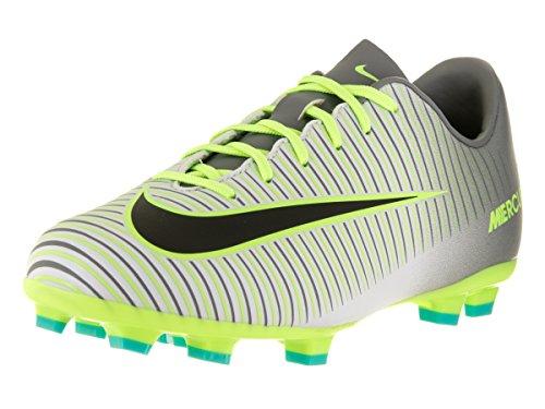 Nike Jungen JR Mercurial Vapor Xi FG Fußballschuhe, Plateado (Pure Platinum/Black-Ghost Green), 28 EU