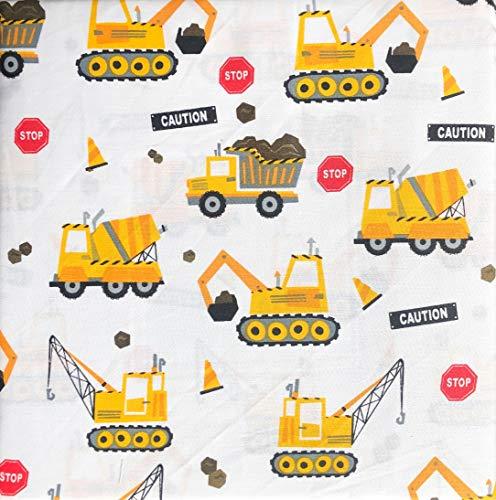 Boy Zone 3-teiliges Doppelblatt-Set für Baufahrzeuge, Kräne, Rückhacken, Zement-Lkws, Warnschilder