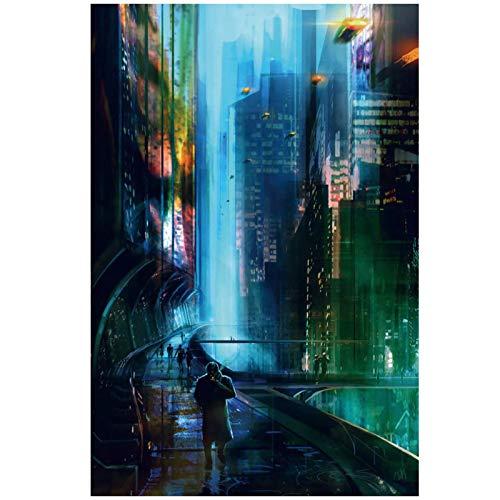 JFGJF Blade Runner 2049 2017 imágenes de películas Lienzo Carteles e Impresiones artísticos de Pared Lienzo Pintura decoración del hogar-20X28 Pulgadas sin Marco