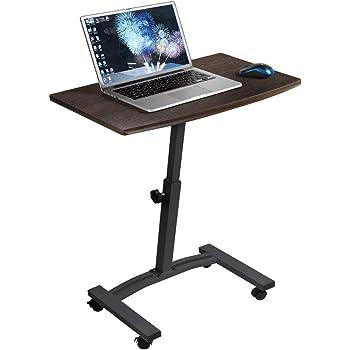 Tatkraft Salute Scrivania per Computer Scrivania Ufficio Porta PC Tavolino per PC in Legno e Acciaio con 4 Ruote Piroettanti per Casa Ufficio