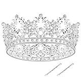 FRCOLOR Corona Nupcial Diadema Tiara Vintage Princesa Rhinestone Coronas de Cristal Tiaras de Boda para Mujeres Damas...