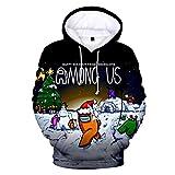 WAWNI Under Us 3D-Druck Hoodie Sweatshirt Herren und Damen Casual Streetwear Jacke Übergröße XXS-4XL Gr. XX-Small, 3d1