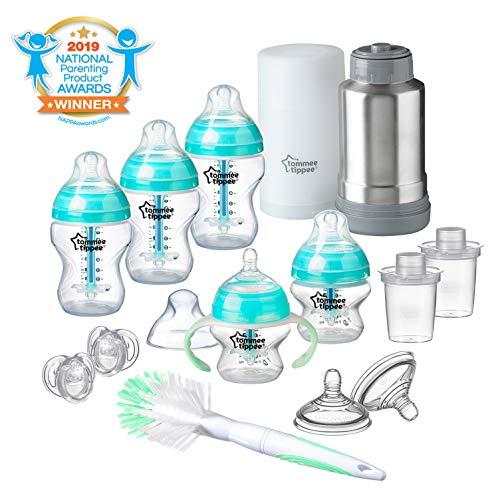 Tommee Tippee Advanced Anti Colic Newborn Baby Bottle Feeding Gift Set - Teal