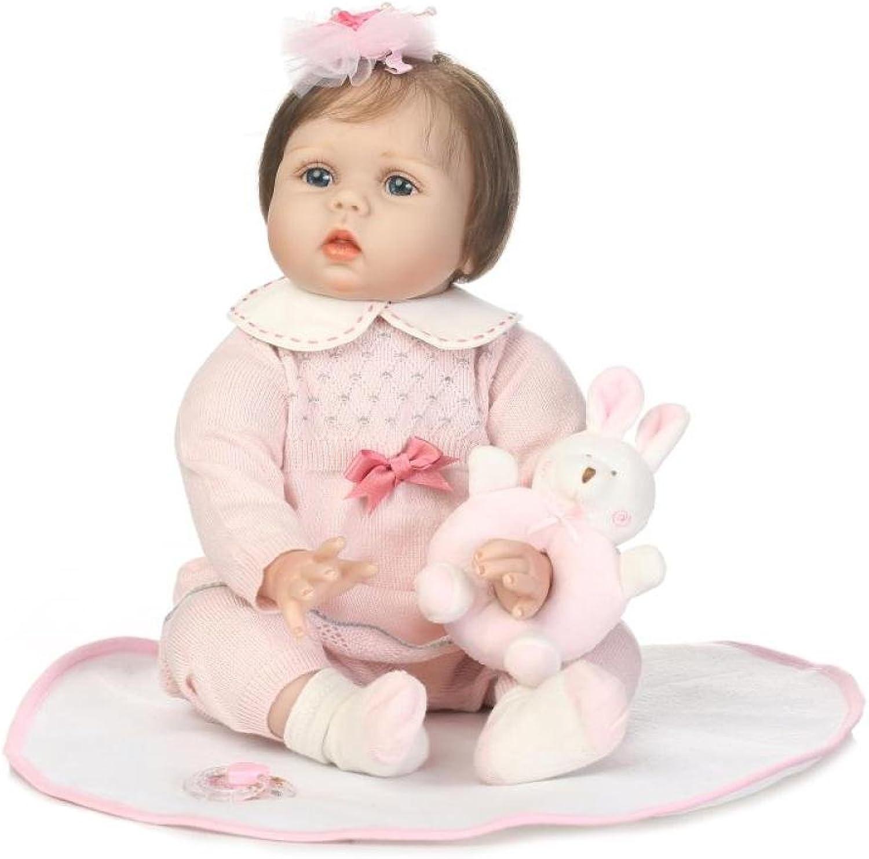 QXMEI Reborn Babypuppe Simulation 22 Zoll   55 cm Gliedmaen Silikon Stoff Krper Kinder Spielzeug Geschenk