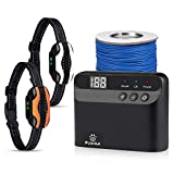 Pumila Electric Dog Fence - Safe Effective Pet Containment System for 2 Dogs, Rechargeable Waterproof Receiver for Small Medium Large Dogs
