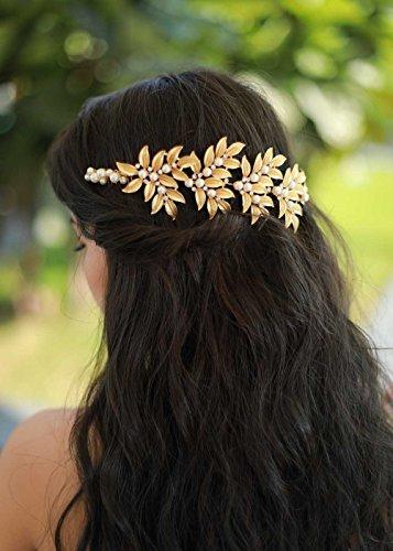 Gracewedding mariée et mariage Dos grecque Coiffe – Mariage Cheveux Cristal Vigne de mariage vintage Couronne Accessoires Cheveux