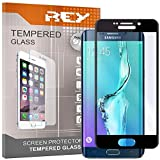 REY Pack 2X Pellicola salvaschermo 3D per Samsung Galaxy S6 Edge Plus - Edge+, Nero, Copertura Completa, Pellicola Protettiva Protezione Schermo, 3D / 4D / 5D