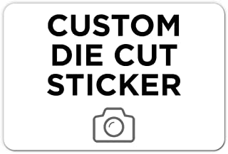 """500 Rectangle Custom Die Cut Stickers 3"""" x 2"""" for Laptops, Windows, Cell Phones, Cars. Upload Your own Image, Logo, or Des..."""