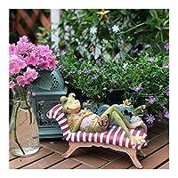 庭の装飾装飾樹脂のカエルのガーデンテラスガーデニング雑貨デスクトップデコレーション