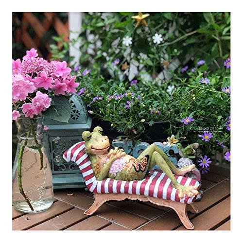 WJS Garten-Dekoration Ornamente Harz Frog Garten Terrasse Garten Sundries Desktop-Dekoration