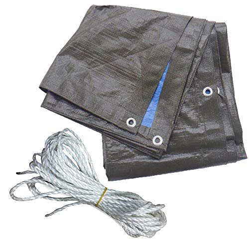 Ecomembrane - Lona Exterior Impermeable con Ojales 2x3 m 200 g/m² -...