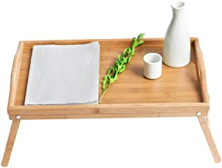Bamboo Bed Tray Table,Foldable Lap Table Bed Tray, 50 * 30 * 20cm,Large Size Laptop Tray Desk,for Kitchen, Bedroom, Bed, S...