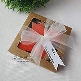 Geschenkset Seifensterne - Sanddorn - Weihnachtsseife, Weihnachtsgeschenk - Florex Schafmilchseife
