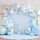 Walant Guirnalda de globos, 139 unidades, arcoíris, guirnalda de globos, macarons, para fiestas, bodas, cumpleaños, decoración de fiestas, unicornios, arco iris pastel (139 unidades)
