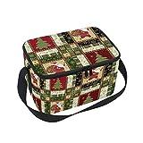Ahomy Isolierte Lunchtasche, Weihnachtsmann mit Sack von Geschenken, Picknick, Lunch-Tasche, Kühltasche für Outdoor/Camping/Grillen/Reisen