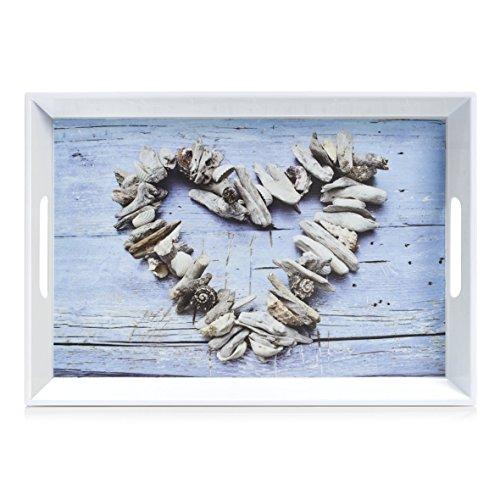 Zeller – Bandeja de melamina, melamina, corazón, 50 x 35 x 5 cm