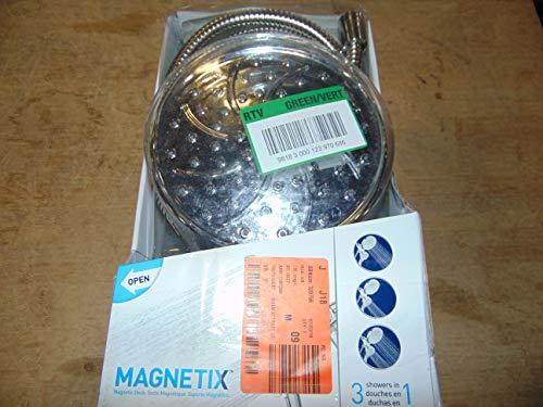 Moen 26008 Magnetix Handheld/Rain Shower Head 2-in-1 Combo Featuring Magnetic Holder Technology