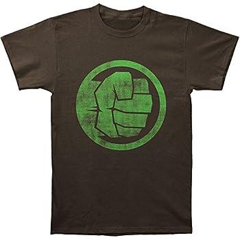 Impact Incredible Hulk Men s Fist Bump Slim Fit T-Shirt XXX-Large Coal Black