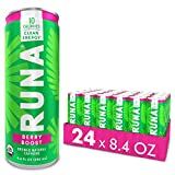 Organic Clean Energy Drink by RUNA, Berry | Refreshing Tea Taste | 10 Calories | Powerful Natural Caffeine | Healthy Energy & Focus | No Crash or Jitters | 8.4 oz (Pack of 24)