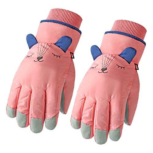 Kinder-Winter-Handschuhe, wasserdicht, Cartoon-Ohren, wärmeisoliert, für den Winter