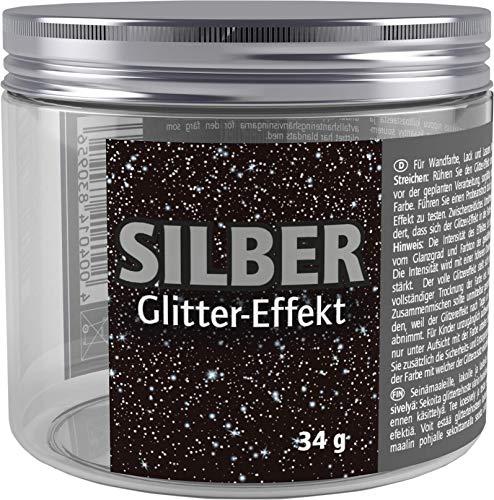 McPaint J530064 Silber Glitter 34g für Wandfarben, Lacke und Lasuren