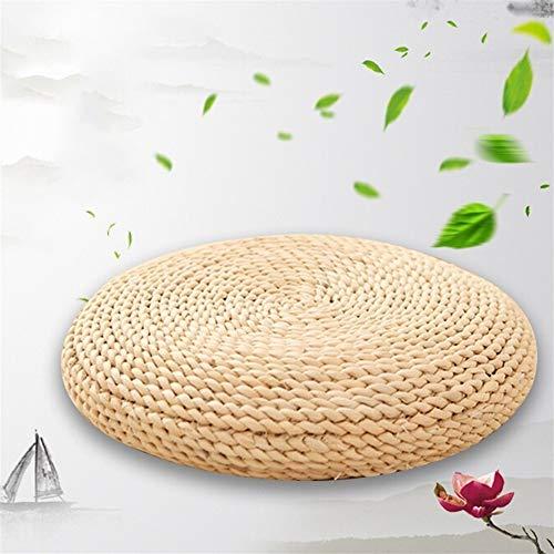 Sunferkyh Meditation Pad Floor Pillow Environmentally Woven Cushion Meditation Cushion Suitable For Yoga Suitable for Meditation Yoga (Color : Beige, Size : 40x40cm)