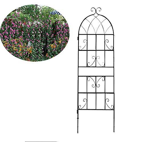 CJSWT Jardin Trellis pour la Vigne et Plantes grimpantes Antirouille Panneaux en Treillis métallique Grille métal Noir pour Ivy Roses Concombres, Clematis Soutien, 150cm