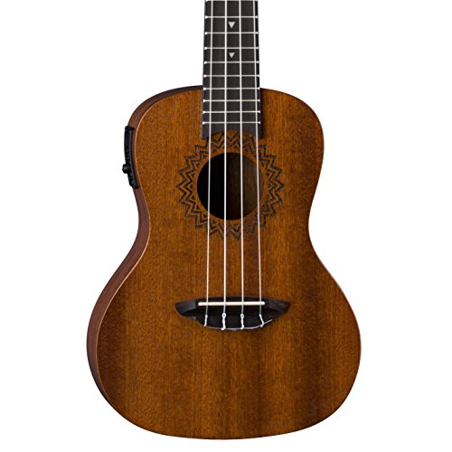 Luna Vintage Mahogany Acoustic/Electric Concert Ukulele with Preamp, Satin Natural