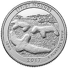2017 P Bankroll of 40 - Effigy Mounds, IA National Park Uncirculated