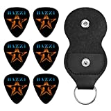 Bazzi ギターピック オシャレ ベース、カポタスト ギター、カポ アコースティックギター、ウクレレ、エレキギター用 ピック トライアングル 6枚セット プレゼント 0.71mm