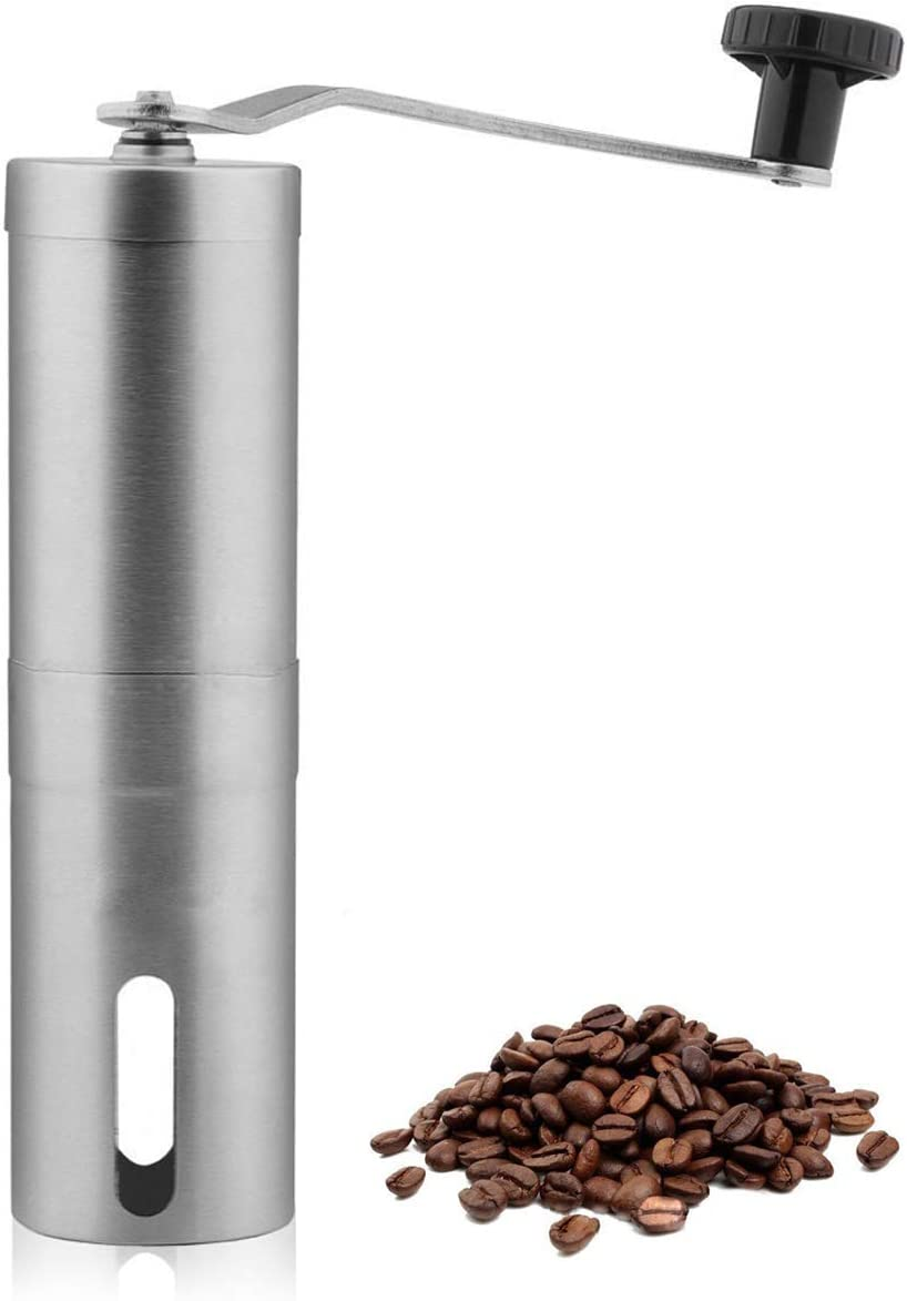 Techson Manual Coffee Grinder Stainless Hand Crank Minneapolis New York Mall Mall Mill Steel w