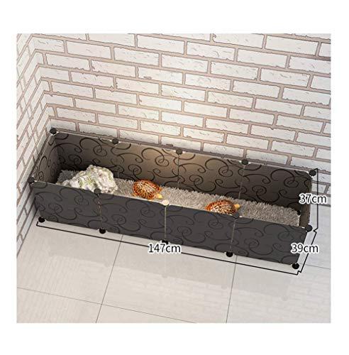 GBY Haustierzaun, rechteckiger Haustierzaun, Katzen- und Hundezaun, geeignet für kleine Hunde und Landschildkröten, schwarz, 147 * 39 * 37 cm