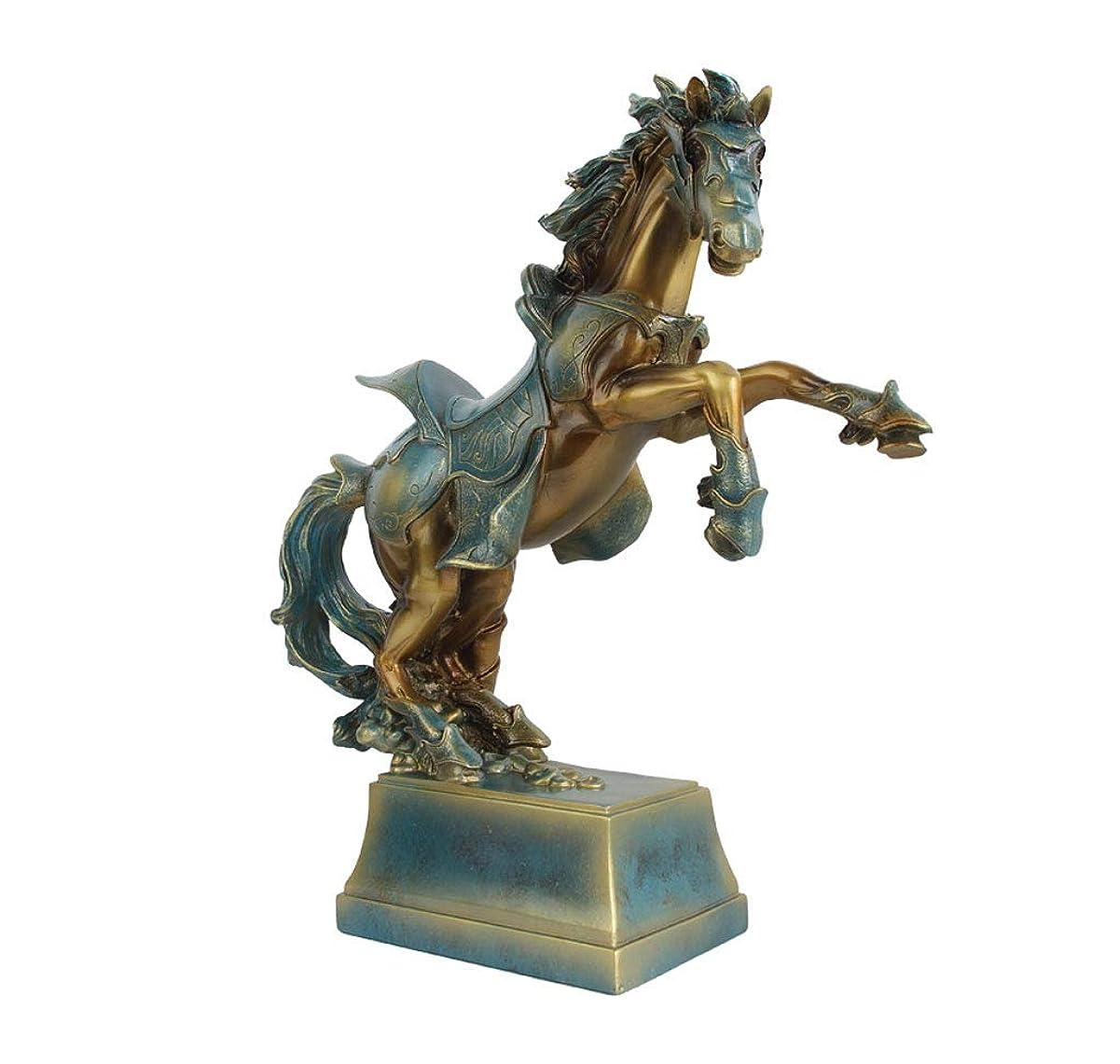 マウントバンク欠かせないファームホームオフィスのインテリアデスクの装飾に適した樹脂が豊富な竹の宝石類の装飾工芸品 アート装飾品、ヨーロッパの手作り樹脂幸運の馬、ホームデコレーションとオープニングギフト用の装飾品 (色 : ブロンズ)