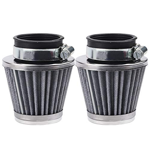 Alibrelo 2 pcs 42mm Air Filter for GY6 125cc 150cc 250cc Motorcycle Scooter Moped Atv Dirt Bike