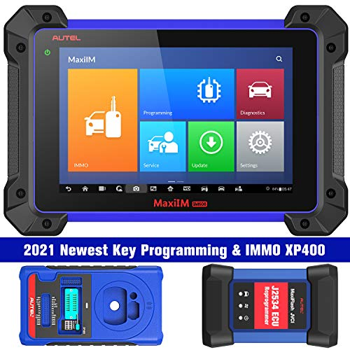 Autel MaxiIM IM608 Professional Key Programming Tool 2021 Newest with IMMO XP400 Key Programmer & J2534 Reprogrammer, Bi-Directional Scan Tool & 30+ Services and All Systems Diagnosis