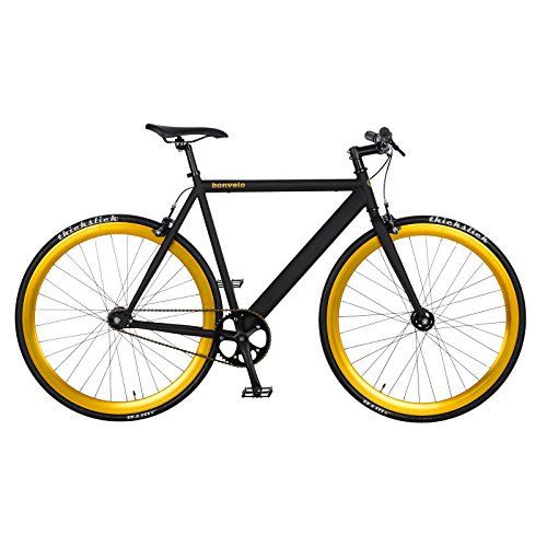 bonvelo Singlespeed Fixie Fahrrad Blizz Heart of Gold (XL / 59cm für Körpergrößen ab 181cm) - 2