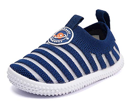 Baby Shoes Boy Girl Infant Sneakers Non-Slip First Walkers 6 9 12 18 24 Months Navy Size 6-12 Months Infant