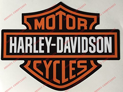 Stemma logo decal HARLEY DAVIDSON, coppia adesivi. Per SERBATOIO, CASCO E SUPERFICI LISCE