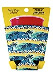 Coolie Junction Tropical Waves Beach Pattern Party Cup Coolie