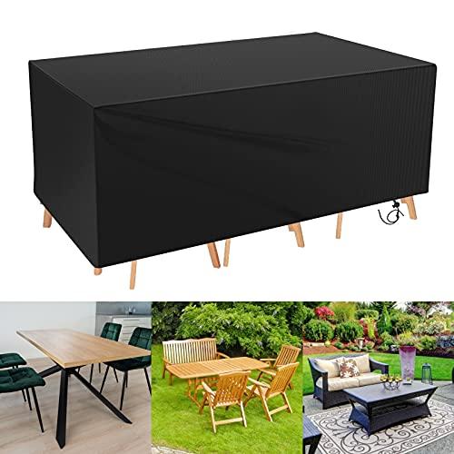 Zorara Funda para muebles de jardín, resistente al agua y al invierno, transpirable, 420D, protección UV, para muebles de jardín (170 x 94 x 70 cm)