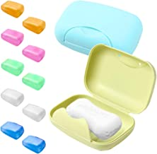 2 Pcs Soap Case Holder and 10 Pcs Toothbrush Head Covers, SENHAI Soap Dish Saver with Covers, Toothbrush Protective Case f...