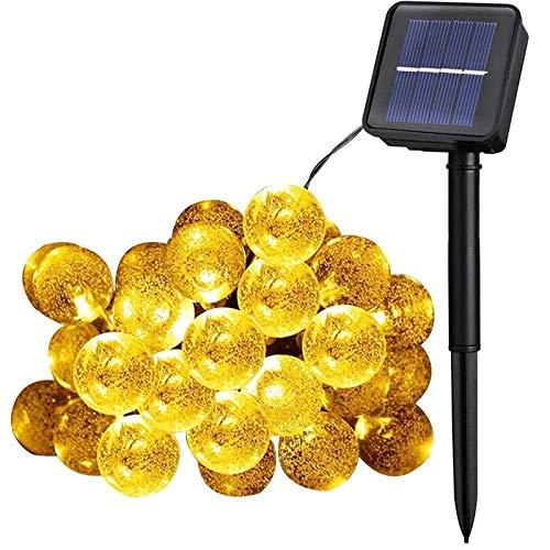 YLSMN Led solar bubble ball light string balcón patio exterior impermeable navidad bola decoración lámpara lampara de mesa
