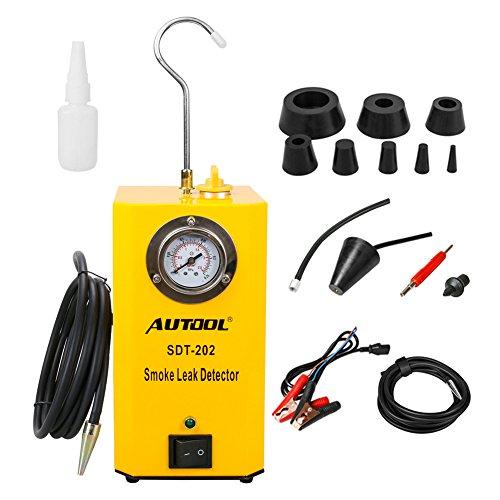 AUTOOL SDT-202 Automotive Fuel Leak Detector 12V Car Leak Locator Tester Support EVAP Car Fuel Leak Detector SDT202 Car Pipe Leak Tester for All Vehicle
