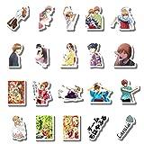 20 Pcs Stickers Pack Chihayafuru Aesthetic Vinyl Colorful Waterproof for Water Bottle Laptop Bumper Car Bike Luggage Guitar Skateboard