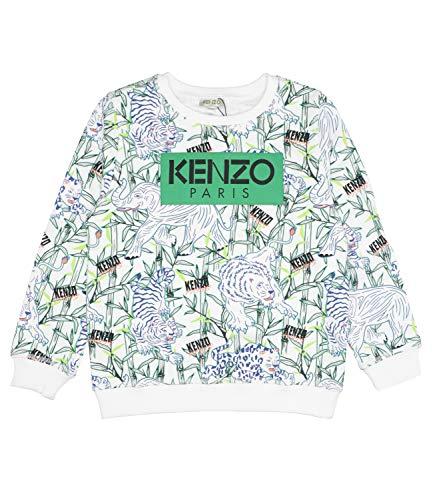 Kenzo Kids - Jake Disco Jungle tröja, Optic White